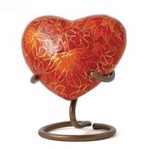 Cloisonne Autumn Leaves Heart
