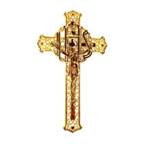 Filigree Crucifix with gold figure