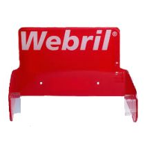 Webril Holder Red Plastic