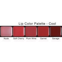 Lip Colour Palette 5 Shades, Cool