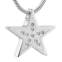 Star Stainless Steel Pendant - Silver