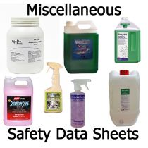 Safety Data Sheets Misc