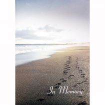 Memorial Book, Footprints Beach Scene