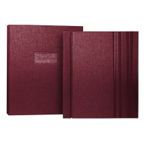 Personalised Remembering Book, Burgundy