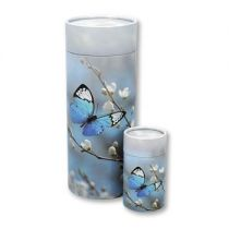 Butterfly and cherry Blossom small scatter tube