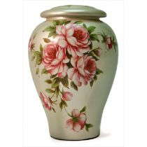 Rose Bouquet Ceramic Urn
