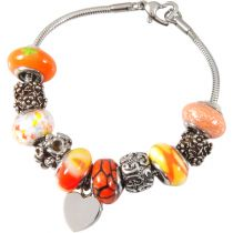 Urn Charm Bracelet - Sunset Orange