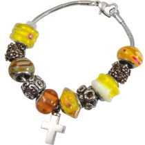 Urn Charm Bracelet - Sunshine Yellow