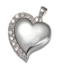 Shine Heart Pendant With Clear Stones