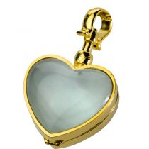 Victorian Glass Heart Locket Pendant
